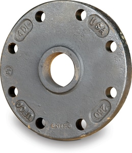 6 x 3 in. Blind 125# Ductile Iron C110 IPT Tap-on-Pipe Flange DTAPBFUM