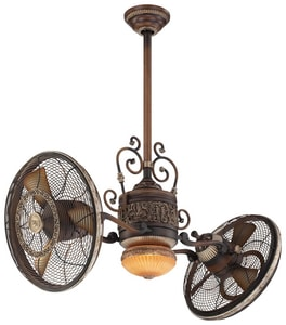 Minka Traditional Gyro™ 42 in. 500 rpm Twin Turbo Ceiling Fan in Belcaro Walnut MF502BCW