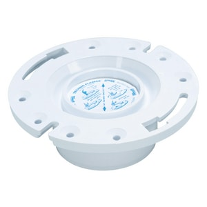 Weld-On Water Tite 4 x 3 in. PVC Closet Flange with Techno Knockout I86132