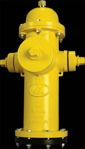 American Flow Control 4-1/2 in. MK73 Hydrant Bury with Left Opening Less Accessories in Yellow AFCMK73LAOLNY