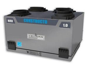 Venmar Ventilation 12-3/16 in. Constructo 1.0 Heat Recovery Ventilator Side V41500