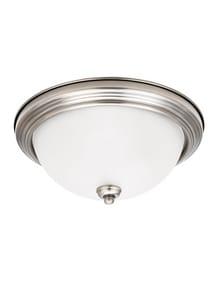 Seagull Lighting Montclaire 6-1/2 in. 60W 3-Light Medium E-26 Base LED Flushmount Ceiling Fixture S77065