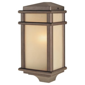 Murray Feiss Industries Mission Lodge 15 in. 100W Wall Mount Medium Lantern in Corinthian Bronze MOL3403CB