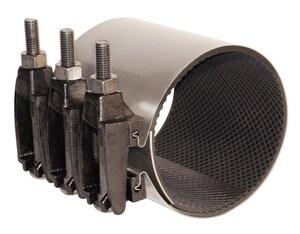 Ford Meter Box 4 in. 304L Stainless Steel Repair Clamp 4.74 - 5.1 in. OD FF1514N