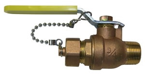 FNW MIP x Hose Brass Full Port Ball Valve FNW428F