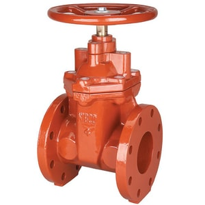 Nibco 250# Flanged Ductile Iron and Cast Iron Non-Rising Stem Gate Valve NF619RW