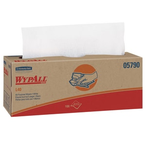 Kimberly Clark Popup® 9-4/5 x 16-2/5 in. Wypall Wipe in White K05790BX