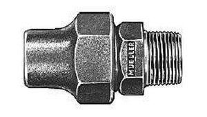 Mueller Company Copper Flared Nut x MIP Brass Coupling MH15425