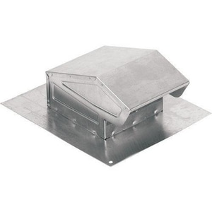 Broan Nutone 3 - 4 in. Roof Cap Aluminum for Round Duct B636AL