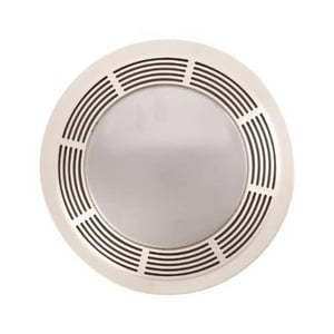 Broan Nutone 100 cfm Fan Light Combination with Round Polymeric Grille B751