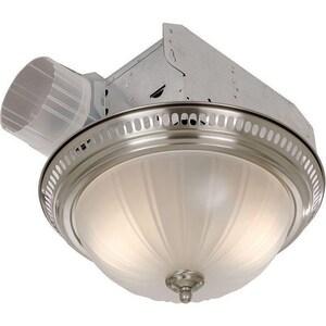 Broan Nutone Exhaust Fan with Light, Glass Globe B741SN