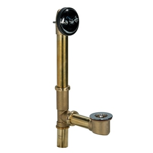 Weld-On 1-1/2 in. 17 ga Brass Trip Lever Waste and Overflow Drain I61007