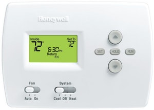 Honeywell Pro 4000 1H/1C Electric Programmable Thermostat in Premier White HTH4110D1007