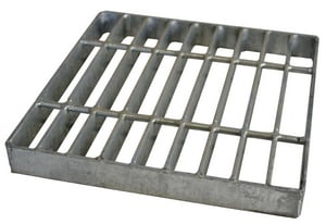 National Diversified Sales 9 in. Galvanized Steel Square Grate N915