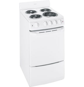 General Electric Appliances Hotpoint® 20 in. Electric Free Standing Range in White GRA720KWH