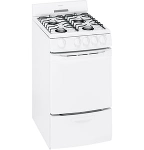 General Electric Appliances Hotpoint® 20 x 40 in. Natural Gas Self Cleaning Free Standing Range GRGA720EKWH