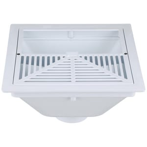 Zurn Industries 3 in. PVC Drain with Half Grate & Dome ZFD2370PV3DSH