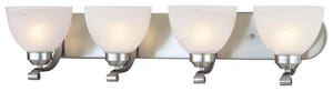 Minka Paradox™ 7-13/100 in. 100W 4-Light Bath Light in Brushed Nickel with Etched Marble Glass Shade M542484