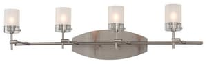 George Kovacs Shimo 40 W G9 4-Light Adjustable Bath Light in Brushed Nickel KP5014084