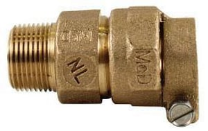 A.Y. McDonald PEP Compression x MIP Brass Straight Coupling M7475333