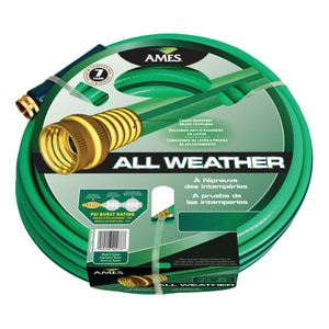 Ames-True Temper Crushproof All Weather Medium Duty Hose In Green A40000A