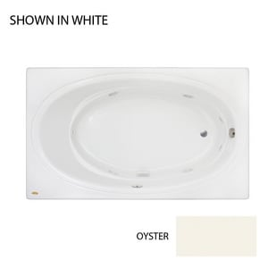 Jacuzzi Nova™ 72 x 42 in. Acrylic Rectangle Skirted Whirlpool Bathtub with Right Drain and J2 Basic Control JNOV7242WRL2XX
