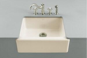 Kohler Alcott™ 5-Hole Fireclay Undercounter Kitchen Sink K6573-5U