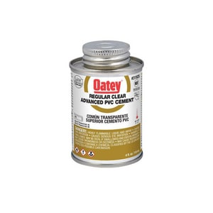 Oatey PVC Advanced Regular Body Cement in Clear O3192