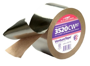 Venture Tape 2-1/2 in. x 50 yd. Silver Aluminum Foil Tape V3520CWLAL