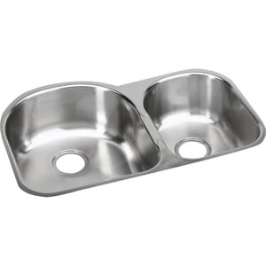 Elkay Gourmet Elumina 31-1/4 x 20 in. Double Bowl, Small Bowl Right-Hand Side Under-Mount Sink EEGUH311910R