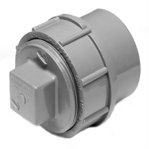 Charlotte Pipe & Foundry FNPT x Spigot Fitting Cleanout Adapter with Plug CPAWFCOAP