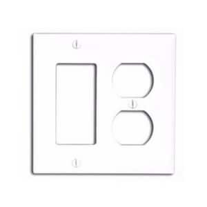Leviton 2-Gang Standard Size Wall Plate in White L80746W