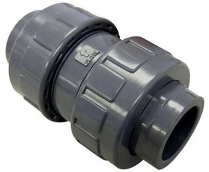 FNW PVC True Union Ball Check Valve Viton FNW345V