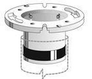 J-Tec Products ABS Street Compression Closet Flange JGH950A