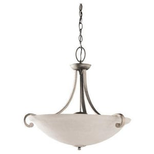 Seagull Lighting Serenity 23-1/4 in. 100 W 3-Light Medium Pendant S65191