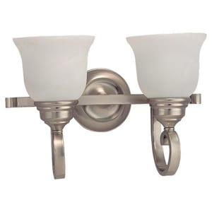 Seagull Lighting Serenity 8 in. 100 W 2-Light Wall Mount Medium Sconce S44190