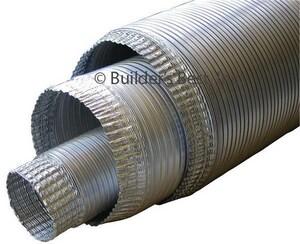 Builder's Best 8 ft. V330 Aluminum Non-Insulated Flexible Pipe B0103