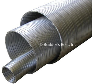 Builder's Best 8 ft. V320 Aluminum Non-Insulated Flexible Pipe B01071