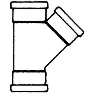 Multi-Fittings Corporation Gasket PVC Sewer Wye MUL043903