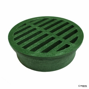 National Diversified Sales Foam Polyolefin Round Grate Green N50