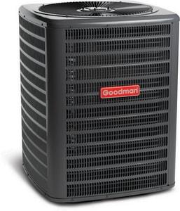 Goodman GSH13 Series 2.5 Ton 13 SEER Upflow, Horizontal and Downflow Single-Stage R-22 1/6 hp Split-System Heat Pump GGSH130301