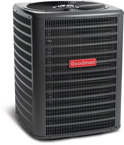 Goodman GSH13 Series 3 Ton 13 SEER Upflow, Horizontal and Downflow Single-Stage R-22 1/4 hp Split-System Heat Pump GGSH130361