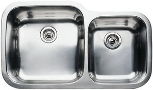 Blanco America Supreme™ 10 in. 2-Bowl Stainless Steel Undermount Kitchen Sink B440157