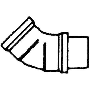 Multi-Fittings Corporation Gasket PVC Sewer 45 Degree Elbow MUL0736