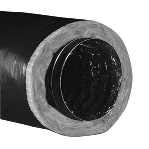 Hart & Cooley 25 ft. R6 Vinyl Flexible Air Duct in Black HF116