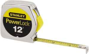 Stanley PowerLock® 1/2 in. x 12 ft. Tape Rule S33212