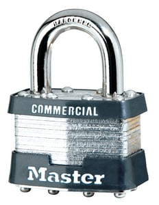 Master Lock 1-3/4 x 15/16 in. Laminated Steel Padlock Keyed Alike M1KA at Pollardwater