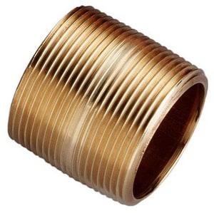 Merit Brass 1-1/4 in. Global Close Brass Nipple GBRNH