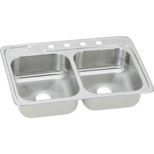 Gourmet Celebrity® 2-Bowl Topmount Kitchen Sink with Center Drain EECC3322