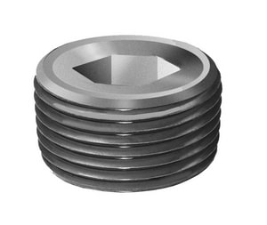 Threaded Galvanized Steel Hex Countersunk Plug GSHCP